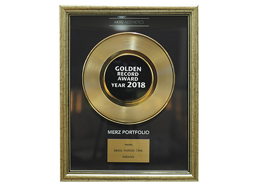 1st Winner Golden Record Award 2018 by Merz Aesthetics for Combination Treatment Indonesia